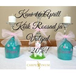 KÕIK Valged ja Roosad Veinid kuni 16.Aprill -20%!