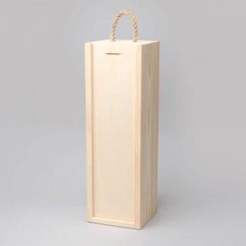 Pudeli kinkekarp puidust 360x110x105mm, naturaalne