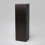 Pudeli kinkekarp puidust 360x110x105mm, tumepruun