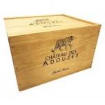 Château des Adouzes puidust kinkekast 6 pudeliga
